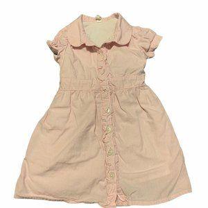 Old Navy Button Up Shirt Dress Pink Check 18-24M